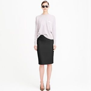 J. Crew wool pencil skirt black size 8